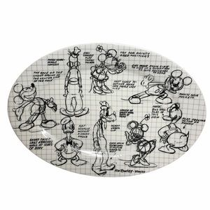 Disney Mickey Mouse Sketchbook 14in Oval Platter